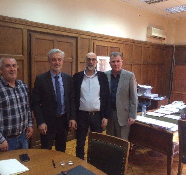 Συνάντηση εκπροσώπων του προεδρείου της ΟΒΥΕ με το γενικό Γραμματέα Βιομηχανίας κ. Απόστολο  Μακρυκώστα